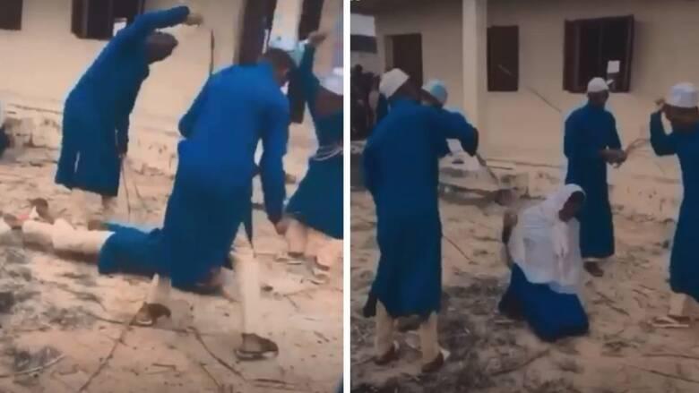 Νιγηρία: Σοκαριστικό βίντεο - Δάσκαλοι μαστιγώνουν μαθήτρια γιατί φέρεται να κατανάλωσε αλκοόλ