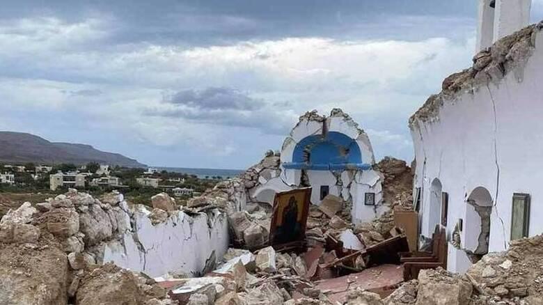 Ισχυρός σεισμός 6,3 Ρίχτερ ανοιχτά της Κρήτης - Κατέρρευσε εκκλησάκι