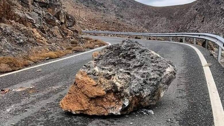 Σεισμός στην Κρήτη: Βράχους μετακίνησε ο Εγκέλαδος στη Σητεία - Κατολισθήσεις στο οδικό δίκτυο