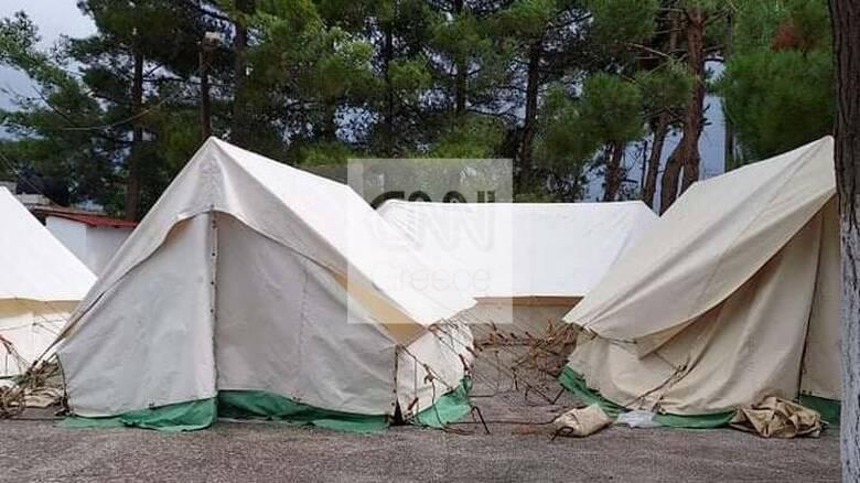 Κακοκαιρία «Μπάλλος» - Κρήτη: Σε σκηνές παραμένουν αρκετοί σεισμόπληκτοι - Χαλάζι στο Ηράκλειο