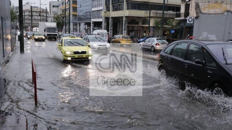 Κακοκαιρία «Μπάλλος»: Κυκλοφοριακό κομφούζιο στην Αττική - Ποιοι δρόμοι είναι κλειστοί
