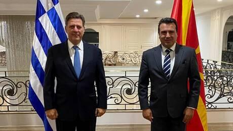 Συνάντηση Βαρβιτσιώτη - Ζάεφ: Κοινό συμφέρον η ενταξιακή πορεία της Βόρειας Μακεδονίας στην ΕΕ
