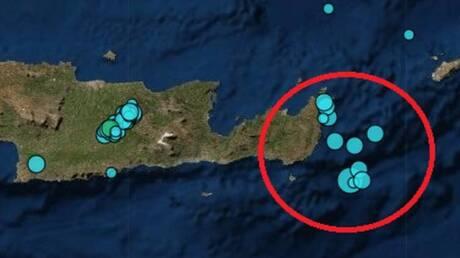 Ασθενής σεισμική δόνηση 4,1 Ρίχτερ νοτιοανατολικά της Κρήτης