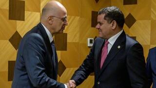Ο Δένδιας έθεσε στον πρωθυπουργό της Λιβύης το ζήτημα του παράνομου μνημονίου με την Τουρκία