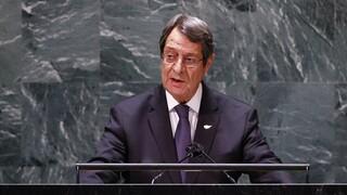 Επιστολή Αναστασιάδη σε Γκουτέρες για τις «νέες μονομερείς και έκνομες ενέργειες της Τουρκίας»