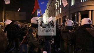 Ένταση στο κέντρο της Αθήνας στην πορεία για τον θάνατο Ρομά στο Πέραμα