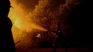 Φωτιά στο Μαρμάρι Ευβοίας: Κοντά σε σπίτια βρέθηκαν οι φλόγες