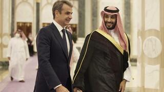 """Μητσοτάκης στη Σαουδική Αραβία: Κίνηση """"ματ"""" κατά της τουρκικής επιθετικότητας"""