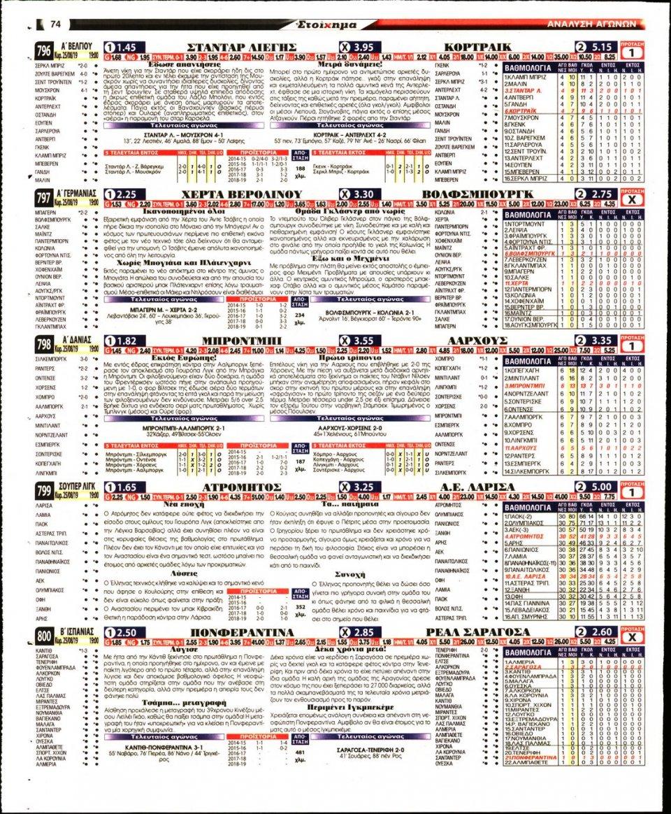 Οπισθόφυλλο Εφημερίδας - ΤΟ ΣΤΟΙΧΗΜΑ - 2019-08-23